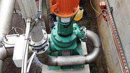 Heavy-duty Vaughan vertical dry pedestal chopper pumps supplied for potato process wastes