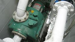 Vaughan SP4C self-priming chopper pump tackles difficult fish offal on deep sea factory ship